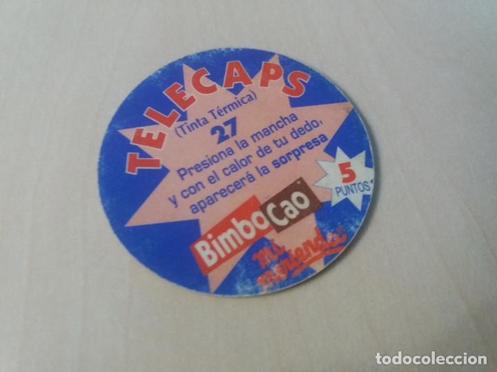 Coleccionismo Cromos antiguos: COLECCIÓN TAZOS BIMBO BIMBOCAO TELECAPS TINTA TÉRMICA TAZO CAPS POGS 27 - Foto 2 - 162890298