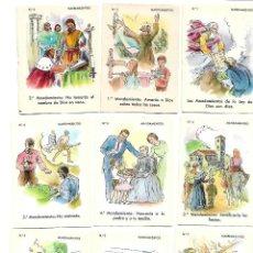 Coleccionismo Cromos antiguos: CROMOS RELIGIOSOS - 30 CROMOS DIFERENTES. Lote 162951542