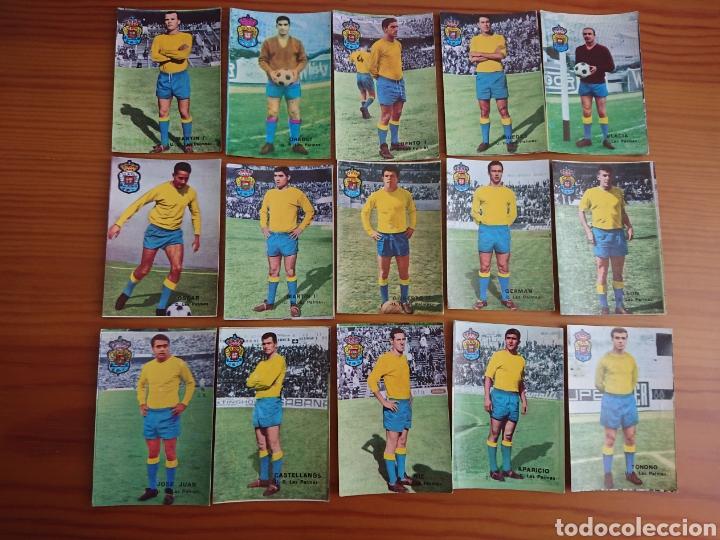 LOTE 15 CROMOS LAS PALMAS, FHER 1967-1968 DISGRA 67-68, NUNCA PEGADOS (Coleccionismo - Cromos y Álbumes - Cromos Antiguos)