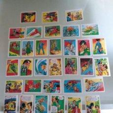 Coleccionismo Cromos antiguos: 100 CROMOS SUPER AMIGOS SUPERMAN BATMAN WONDER WOMAN LIGA DE LA JUSTICIA. Lote 164767566