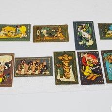 Coleccionismo Cromos antiguos: 12 CROMOS LUCKY LUKE MATUTANO CON SUS TRASERAS SIN USO. Lote 165100690