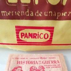 Coleccionismo Cromos antiguos: SOBRE CROMOS CERRADO HISTORIA DE LA GUERRA CHOCOLATES MOHER. Lote 165157570
