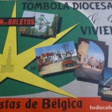 Coleccionismo Cromos antiguos: ALBUM DE CROMOS TOMBOLA DIOCESANA DE LA VIVIENDA MADRID VISTAS DE BELGICA COMPLETO . Lote 165683498