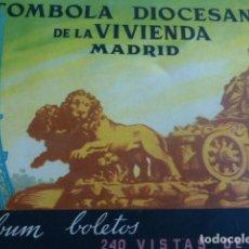 Coleccionismo Cromos antiguos: ALBUM DE CROMOS TOMBOLA DIOCESANA DE LA VIVIENDA MADRID VISTAS DE FRANCIA COMPLETO . Lote 165683666