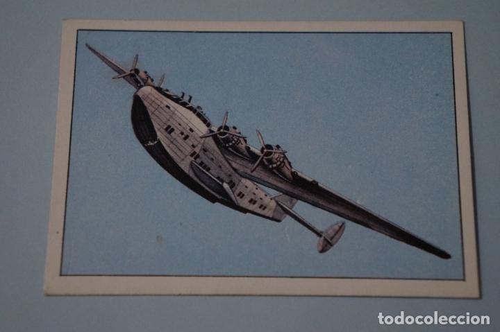 CROMO DE GRAN HISTORIA DE LA AVIACIÓN SIN PEGAR Nº 59 AÑO 1985 DEL ALBUM GRAN HISTORIA...DE SARPE (Coleccionismo - Cromos y Álbumes - Cromos Antiguos)