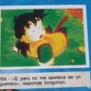 Coleccionismo Cromos antiguos: PANINI DRAGON BALL Z PRIMER ALBUM 1 CROMO RECUPERADO NUMERO 154. Lote 165755582