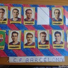 Coleccionismo Cromos antiguos: BRUGUERA 54 55 CARTULINA CON 10 CROMOS BARCELONA 1954 1955 CAMPEONES (KUBALA, RAMALLETS, TEJADA... Lote 165980314