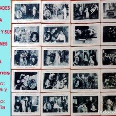 Coleccionismo Cromos antiguos: COLECCION DE 20 CROMOS FOTOS DE CELEBRIDADES DE LA PANTALLA Y SUS CREACIONES SERIE A.AÑOS 30. 11 X 7. Lote 166183174
