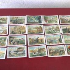Coleccionismo Cromos antiguos: CROMOS LA GUERRA EUROPEA 1915 SERIE 4 COMPLETA CHOCOLATES AMATLLER.. Lote 166239766