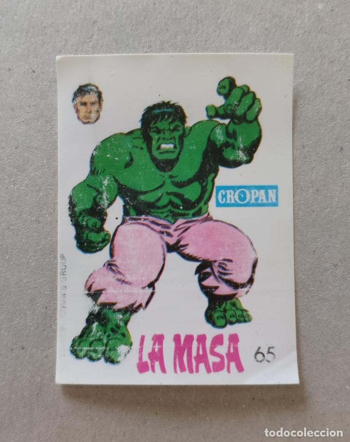 ALBUM DESCUBRE A TUS HEROES FANTASTICOS, CROMO N° 65: LA MASA - LOPEZ ESPI (CROPAN 1975) (Coleccionismo - Cromos y Álbumes - Cromos Antiguos)