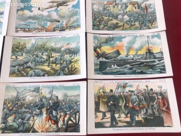 Coleccionismo Cromos antiguos: CROMOS LA GUERRA EUROPEA 1916 SERIE 12 COMPLETA CHOCOLATES AMATLLER. - Foto 4 - 166398374