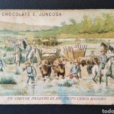 Coleccionismo Cromos antiguos: CROMO N°15 LA GUERRA DE CUBA CHOCOLATE JUNCOSA. Lote 166707222