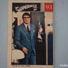 Coleccionismo Cromos antiguos: CROMO DE SUPERMAN II SIN PEGAR Nº 93 AÑO 1980 DEL ALBUM SUPERMAN II DE FHER. Lote 207040450