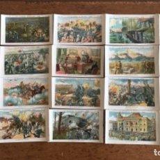 Coleccionismo Cromos antiguos: CROMOS LA GUERRA EUROPEA 1918 SERIE 18 COMPLETA CHOCOLATES AMATLLER.. Lote 167669300