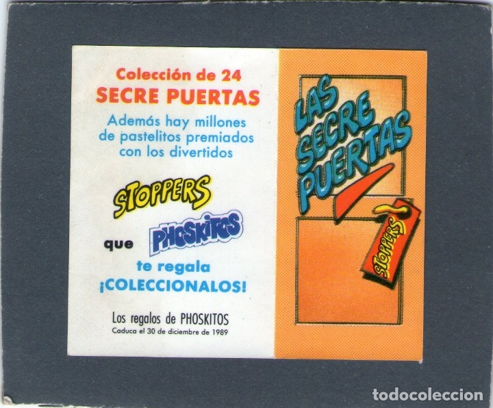 Coleccionismo Cromos antiguos: CROMO - LAS SECRE-PUERTAS - ¡ESTOY JOROBADO! - PHOSKITOS. - Foto 3 - 167839032
