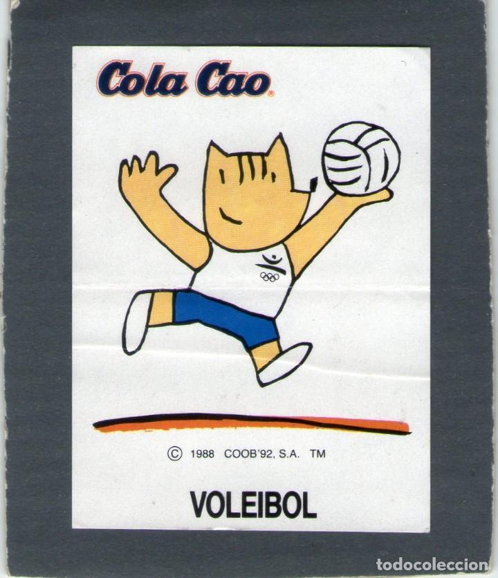 COBI, LA MASCOTA OLÍMPICA - VOLEIBOL - COLA CAO - AÑOS 80 - NUNCA PEGADO. (Coleccionismo - Cromos y Álbumes - Cromos Antiguos)