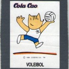 Coleccionismo Cromos antiguos: COBI, LA MASCOTA OLÍMPICA - VOLEIBOL - COLA CAO - AÑOS 80 - NUNCA PEGADO.. Lote 167841572