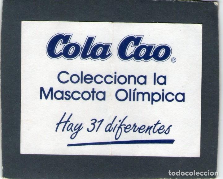 Coleccionismo Cromos antiguos: COBI, LA MASCOTA OLÍMPICA - VOLEIBOL - COLA CAO - AÑOS 80 - NUNCA PEGADO. - Foto 2 - 167841572