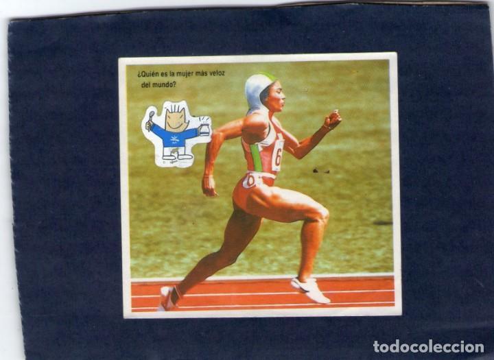 CROMO - RECORDS OLÍMPICOS - DANONE - NUNCA PEGADO. (Coleccionismo - Cromos y Álbumes - Cromos Antiguos)
