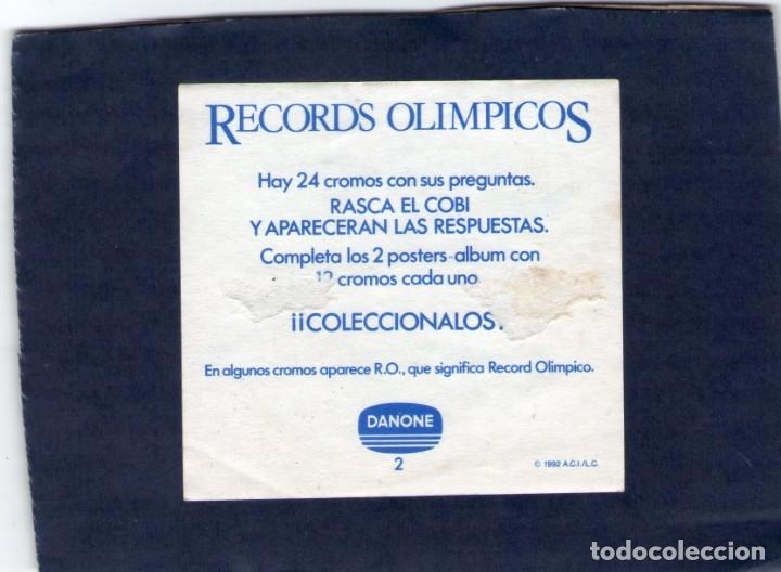 Coleccionismo Cromos antiguos: CROMO - RECORDS OLÍMPICOS - DANONE - NUNCA PEGADO. - Foto 2 - 167842604