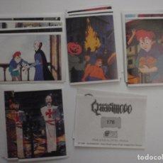 Coleccionismo Cromos antiguos: LOTE 42 CROMOS DIFERENTES QUASIMODO DE DS 1996. SIN PEGAR. Lote 167980496