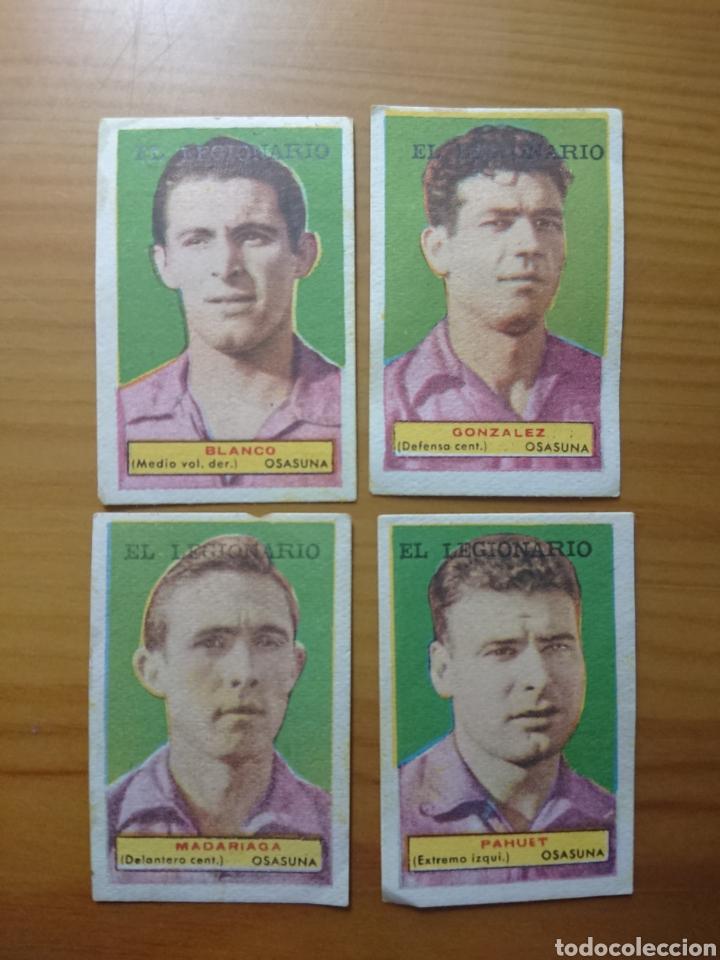 LOTE 4 CROMOS OSASUNA CONDIMENTOS EL LEGIONARIO Y LOS NOVIOS 1953/1954 SIN PEGAR (Coleccionismo - Cromos y Álbumes - Cromos Antiguos)