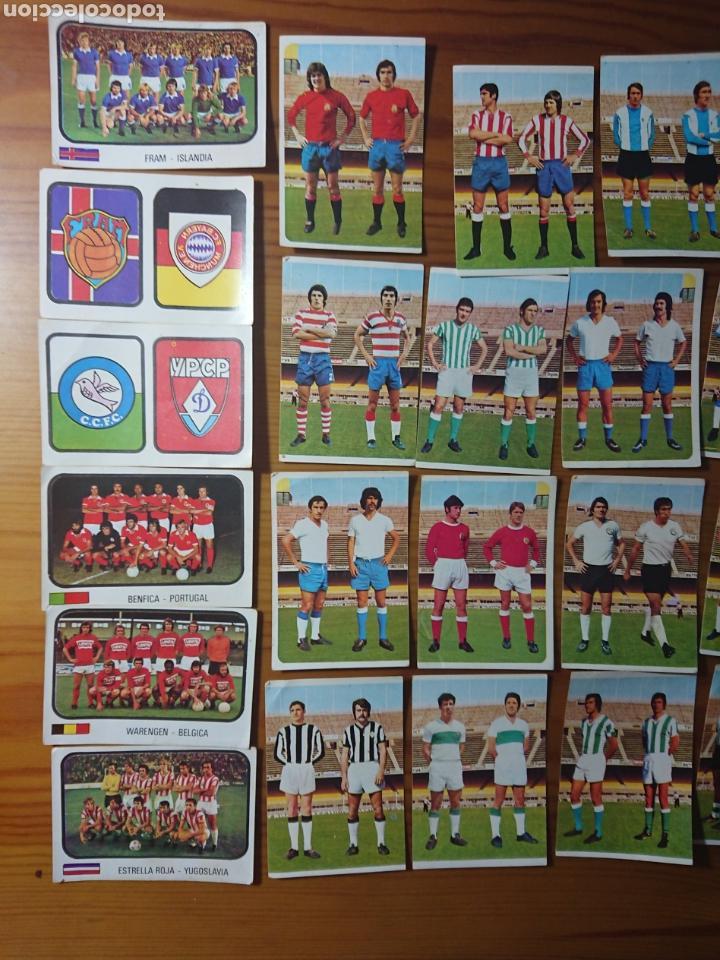 Coleccionismo Cromos antiguos: LOTE 42 CROMOS SIN PEGAR CAMPEONATO NACIONAL FUTBOL COPA EUROPA Y RECOPA 1975-1976 NUEVOS - Foto 2 - 168404017