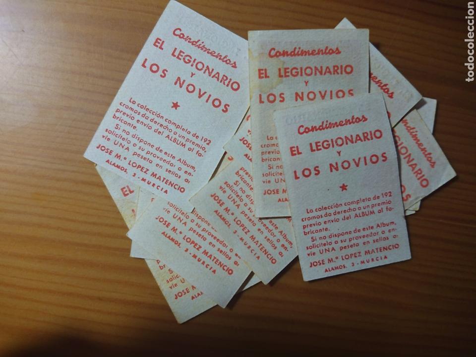 Coleccionismo Cromos antiguos: LOTE 12 CROMOS SEVILLA CONDIMENTOS EL LEGIONARIO Y LOS NOVIOS 1953-1954 SIN PEGAR - Foto 2 - 168404405
