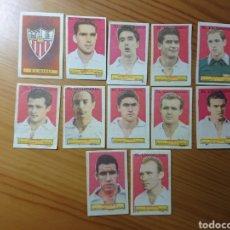 Coleccionismo Cromos antiguos: LOTE 12 CROMOS SEVILLA CONDIMENTOS EL LEGIONARIO Y LOS NOVIOS 1953-1954 SIN PEGAR. Lote 168404405