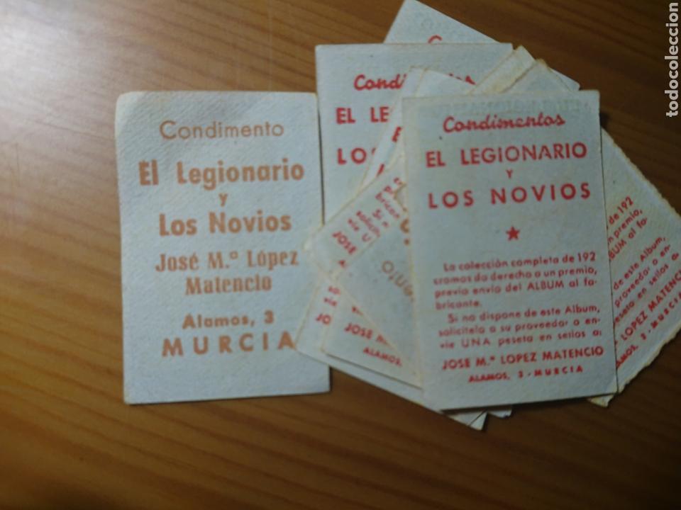 Coleccionismo Cromos antiguos: LOTE 9 CROMOS VALENCIA CONDIMENTOS EL LEGIONARIO Y LOS NOVIOS 1953-1954 SIN PEGAR - Foto 2 - 168404436