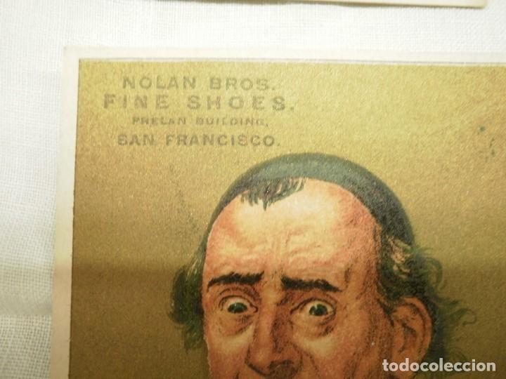 Coleccionismo Cromos antiguos: ANTIGUOS CROMOS O TARJETAS AMERICANA DE S. FRANCISCO PROPAGANDA NOLAN BROS - Foto 2 - 168739504