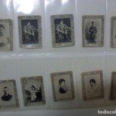 Coleccionismo Cromos antiguos: LOTE DE 26 CROMOS ANTIGUOS. COLECCIÓN REYES Y REINAS. . Lote 168921784