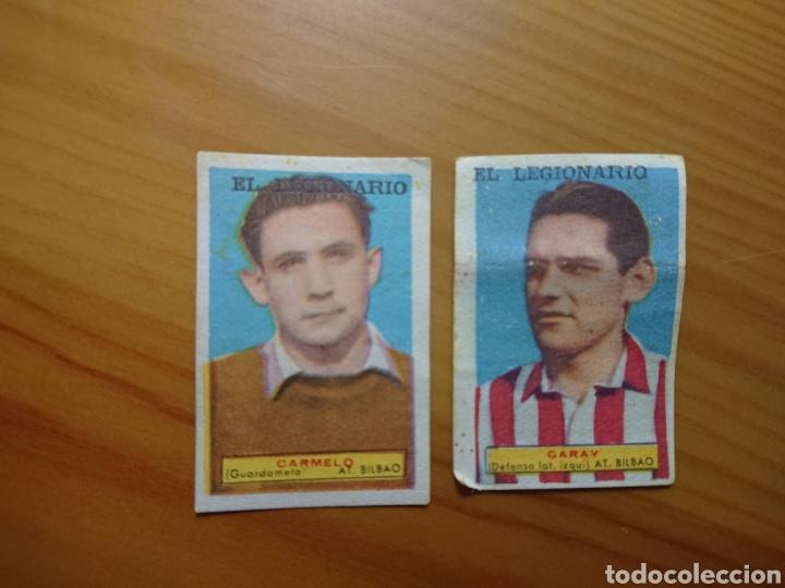 LOTE 2 CROMOS ATHLETIC DE BILBAO CONDIMENTOS EL LEGIONARIO Y LOS NOVIOS 1953-1954 SIN PEGAR (Coleccionismo - Cromos y Álbumes - Cromos Antiguos)