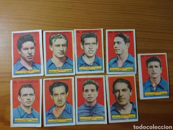 LOTE 9 CROMOS REAL OVIEDO CONDIMENTOS EL LEGIONARIO Y LOS NOVIOS 1953-1954 SIN PEGAR (Coleccionismo - Cromos y Álbumes - Cromos Antiguos)