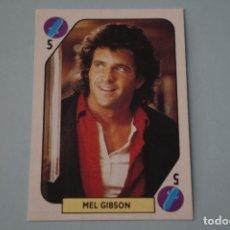Colecionismo Cromos antigos: CROMO DE MEL GIBSON SIN PEGAR AÑO 1988 DEL ALBUM TELE BANCO POP STARS DE ESTE. Lote 170060878