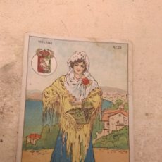 Coleccionismo Cromos antiguos: CROMO TIPOS REGIONALES N°28 MÁLAGA - VALE 25 PUNTOS LIBRERÍA ESCOLAR - VALENCIA -. Lote 170295058