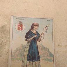 Coleccionismo Cromos antiguos: CROMO TIPOS REGIONALES N°7 BARCELONA - VALE 25 PUNTOS LIBRERÍA ESCOLAR - VALENCIA -. Lote 170295749