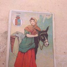 Coleccionismo Cromos antiguos: CROMO TIPOS REGIONALES N°41 TERUEL - VALE 25 PUNTOS LIBRERÍA ESCOLAR - VALENCIA -. Lote 170296281