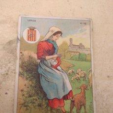 Coleccionismo Cromos antiguos: CROMO TIPOS REGIONALES N°24 LÉRIDA - VALE 25 PUNTOS LIBRERÍA ESCOLAR - VALENCIA -. Lote 170296494