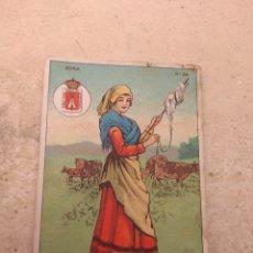Coleccionismo Cromos antiguos: CROMO TIPOS REGIONALES N°39 SORIA - VALE 25 PUNTOS LIBRERÍA ESCOLAR - VALENCIA -. Lote 170296910