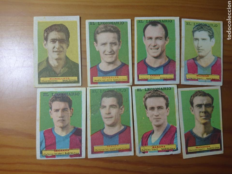 LOTE 8 CROMOS BARCELONA CONDIMENTOS EL LEGIONARIO Y LOS NOVIOS 1953-1954 SIN PEGAR (Coleccionismo - Cromos y Álbumes - Cromos Antiguos)