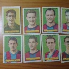 Coleccionismo Cromos antiguos: LOTE 8 CROMOS BARCELONA CONDIMENTOS EL LEGIONARIO Y LOS NOVIOS 1953-1954 SIN PEGAR. Lote 170986639
