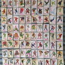 Coleccionismo Cromos antiguos: ALBUM DESCUBRE A TUS HEROES FANTASTICOS, LOTE CON 80 CROMOS (COMPLETO) - LOPEZ ESPI (CROPAN 1975). Lote 171059239