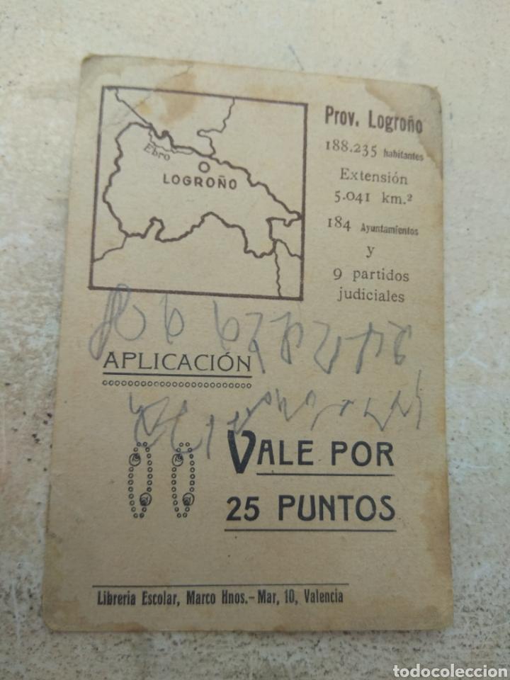 Coleccionismo Cromos antiguos: Cromo Tipos Regionales N°25 Logroño - Vale 25 Puntos Librería Escolar - Valencia - - Foto 2 - 171463499