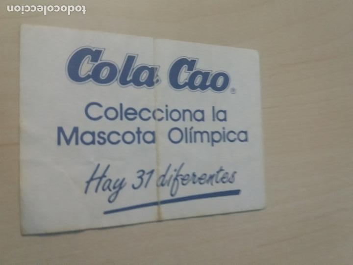 Coleccionismo Cromos antiguos: CROMO PEGATINA ADHESIVO COLECCIONA LA MASCOTA OLIMPICA - COLA CAO - ATLETISMO - Foto 2 - 172067952