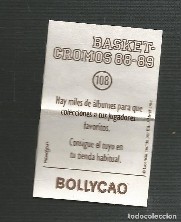 Coleccionismo Cromos antiguos: CROMO BOLLYCAO BASKET-CROMOS 88-89 Nº108 - Foto 2 - 172414004