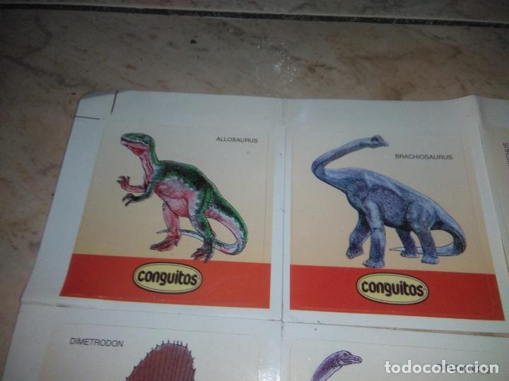 Coleccionismo Cromos antiguos: coleccion de CROMOS CONGUITOS DINOSAURIOS ADHESIVOS pegatinas premium - Foto 2 - 172467813