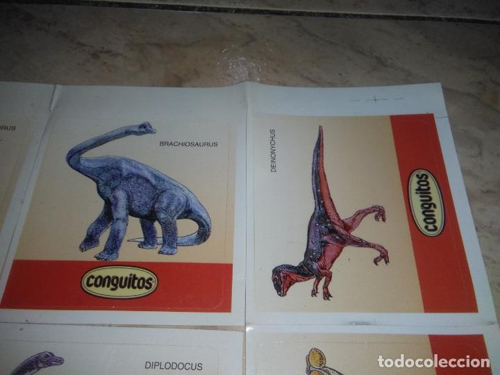 Coleccionismo Cromos antiguos: coleccion de CROMOS CONGUITOS DINOSAURIOS ADHESIVOS pegatinas premium - Foto 3 - 172467813