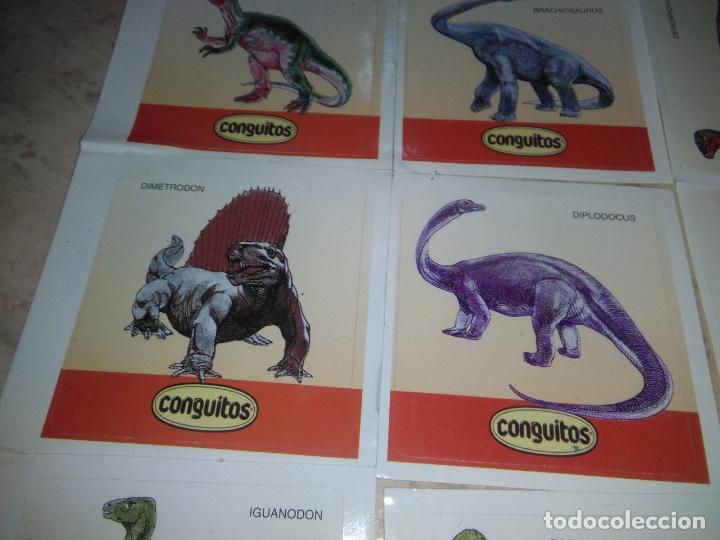 Coleccionismo Cromos antiguos: coleccion de CROMOS CONGUITOS DINOSAURIOS ADHESIVOS pegatinas premium - Foto 4 - 172467813