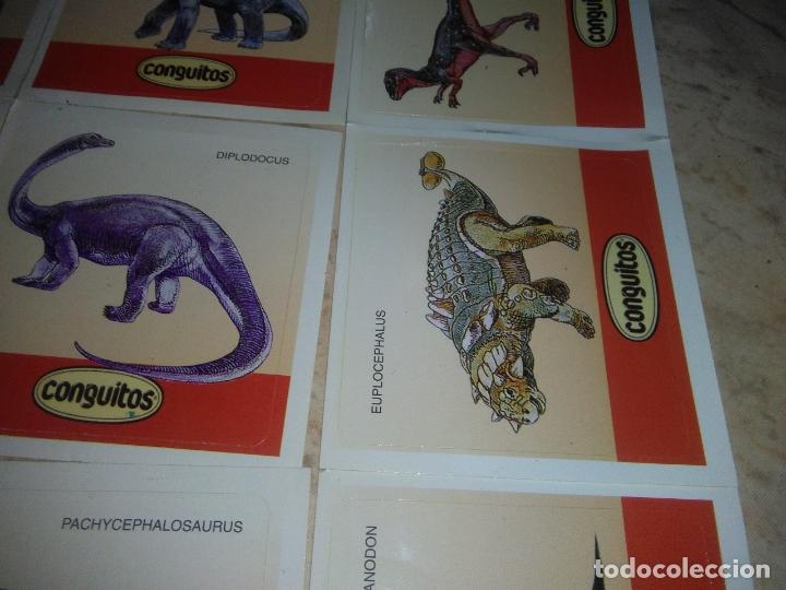 Coleccionismo Cromos antiguos: coleccion de CROMOS CONGUITOS DINOSAURIOS ADHESIVOS pegatinas premium - Foto 5 - 172467813